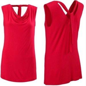 Cabi Style #3051 Drape Neck Sleeveless Top Size M